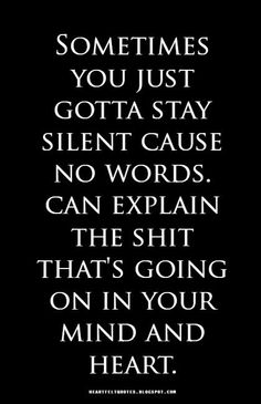 Sometimes you just gotta stay silent..