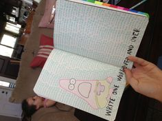 My wreck this journal page - with surprise Patrick and wumbo in the back