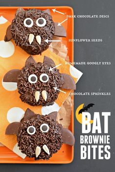 Turn your favorite chocolatey dessert into a spook-tacular treat with these gluten free Halloween brownies. But be careful! These nocturnal cuties might take over your kitchen at night if you leave them unattended...