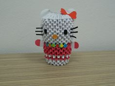 Etsy の 3D Origami Little Kitty by SilvyOrigami