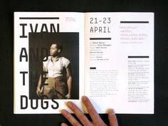 Traverse Theatre Catalogue by Hugo Rente, via Behance