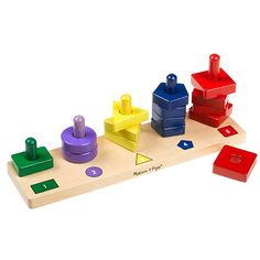 Melissa & Doug Stack & Sort Board - I just went crazy and bought him 3 other toys from their brand for his birthday!