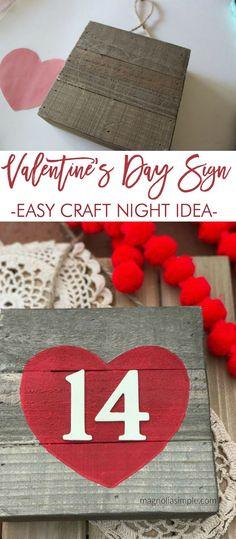 Valentine's Day Sign: Easy Valentine Craft