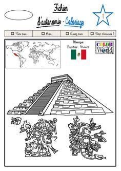 Coloriage mexicain sara voyage au mexique le club pinterest - Dessin du mexique ...