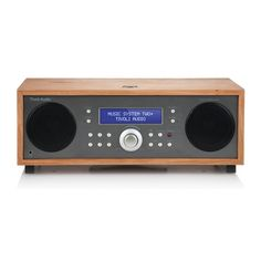Music System Two+ all-in-one hi-fi system in taupe cherry.