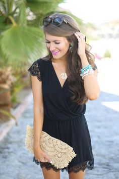 Black Lace Romper...