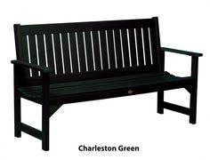 Phat Tommy Metal Wood Lehigh Garden Bench