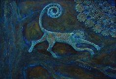 Maya blue monkey