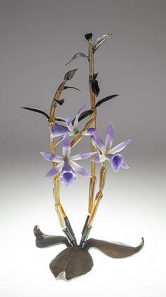 Dendrobium by Loy Allen (Art Glass Sculpture) Glass Wall Art, Stained Glass Art, Water Art, Water Glass, Teal Art, Fish Sculpture, Sculptures, Sunset Art, Glass Paperweights
