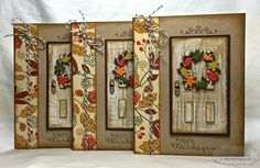 Happy Thanksgiving Cards by Shannon White #Cardmaking, #Thanksgiving, #LittleBitsDies, #TE, ShareJoy