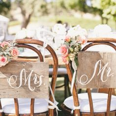 Bride And Grooms Chairs