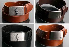 New Mens Polo Belt Metal Buckle, Genuine Leather Belts, 27 - 42 inch Metal Buckles, Belt Buckles, 42 Inch, Leather Belts, Gq, Gadgets, Polo, Bracelets, Dress