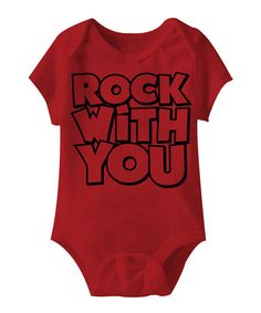 Look at this Red 'Rock With You' Bodysuit - Infant on #zulily today!