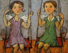 SWING, oil on canvas, 70x90cm, 2010 © Svetlana Kurmaz Limited Edition Prints, Oil On Canvas, Artist, Russian Art, Handmade, Etsy, Vintage, Paintings, Swings