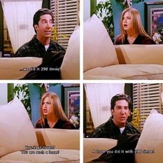 Oh Ross and Rachel...