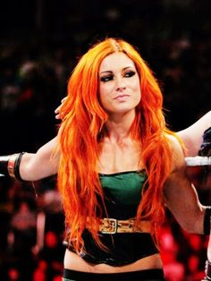WWE Becky Lynch....The Captain for the Smack Down Blue team (2017).