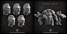 If you want to change hairstyle of your soldiers we might just have something for you: https://puppetswar.eu/product.php?id_product=771