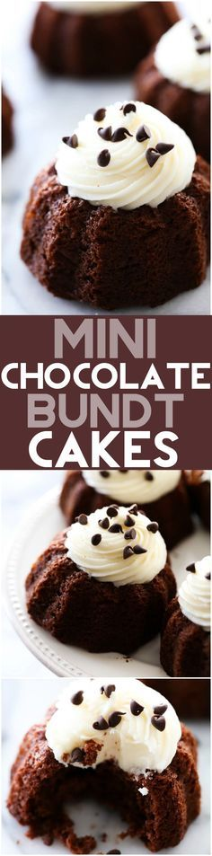 Mini cocoa cocoa Chocolate Bundt Cakes These are an. Mini cocoa cocoa Chocolate Bundt Cakes These are an extremely moist chocolate cake with a delicious cream cheese frosting on top. It makes for an smooth and tasty personal size treat! Too Much Chocolate Cake, Hershey Chocolate Cakes, Chocolate Bundt Cake, Chocolate Desserts, Cocoa Chocolate, Chocolate Buttercream, Chocolate Muffins, Buttercream Frosting, Icing