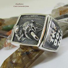 anel valentino Rossi em prata Maciça Ojoalheiro (3) Aneis Masculinos, Prata,  Arte a0c20d7673
