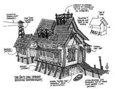 Virtual World Concept Designs by Don Carson, via Behance
