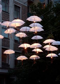 Umbrella lights!! Unique and really pretty