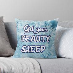 'Beauty sleep and dream -Get your beauty sleep' Throw Pillow by StefaniaAlina Sleeping Beauty, Original Art, Cushions, Throw Pillows, Art Prints, Printed, Awesome, People, Gifts