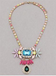 P.S. I Love You More Boutique | Pastel Sparkles Necklace | Spring Summer Fashion 2014  www.psiloveyoumoreboutique.com