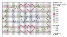 cruz tarjeta de amor libre carta puntada