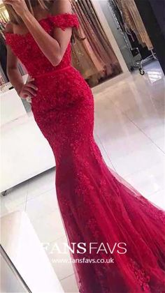 Red lace prom dress - Lace Mermaid Off Shoulder Red Prom Dresses Charming Evening Dress Sexy prom dress – Red lace prom dress Red Lace Prom Dress, Mermaid Prom Dresses Lace, Prom Dresses 2018, Sexy Dresses, Lace Mermaid, Prom Gowns, Party Dresses, Dress Prom, Dress Formal