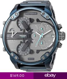 e8bc0764e20a Diesel DZ7414 Watches Mens Mr. Daddy 2.0 Chronograph Blue Stainless Steel  Watch