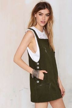 Nasty Gal Army of One Overall Dress - Day | Shift | Dresses