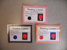 A License to Read! - The Daily Cupcake....a Kindergarten Blog