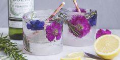 Bij Mooi Wat Bloemen Doen bedenken ze de meest fleurige recepten met bloemen. Bij dit bloemenglas zit het ijs niet in je cocktail maar óm je cocktail.