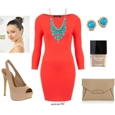 """""""Coral-Turquoise Date Night"""" by midwest-meg86 on Polyvore"""