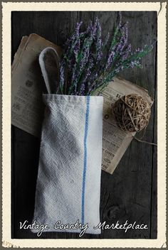 Vintage Country Style: Tutorial on French Grain Sack Hanger