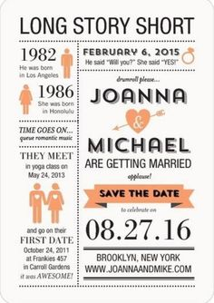 Fun but simple save the date