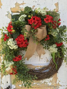 Your place to buy and sell all things handmade Diy Spring Wreath, Diy Wreath, Grapevine Wreath, Wreath Ideas, Front Door Decor, Wreaths For Front Door, Door Wreaths, Easter Wreaths, Holiday Wreaths
