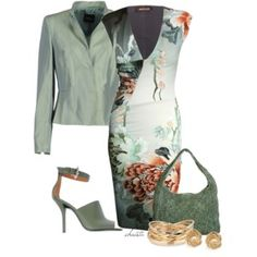 Floral is part of Edgy fashion Trends Products - A fashion look from March 2013 featuring deep vneck dresses, Akris and givenchy sandals Browse and shop related looks Mode Outfits, Fashion Outfits, Womens Fashion, Fashion Trends, Mode Style, Style Me, Jw Mode, Work Fashion, Fashion Looks