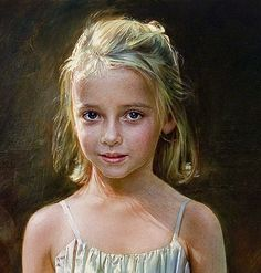 robert schoeller art | Robert Schoeller Painting: Little Girl Portrait Little Girl Portrait ...