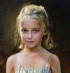 robert schoeller art | Robert Schoeller Painting: Little Girl Portrait Little Girl Portrait ...