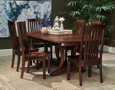 Give your guests something to talk about over your Thanksgiving meal by adding our Richfield Brown Maple Dining Room collection to your home! Made in America from the finest solid maple wood, this set will graciously host you and your family for years to come! Its sturdy structure compliments the gorgeous organic wood grain for a classic style that will fit perfectly into most any dining room. Join us at Gallery Furniture TODAY to try it out for yourself! | Houston TX | Gallery Furniture |