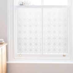 Window Film - Pearl - love this idea as a privacy treatment without impacting light or requiring window treatments...bare windows lovely