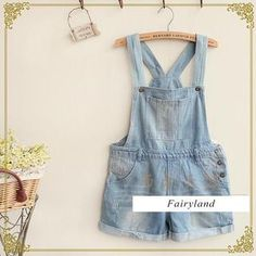 Buy 'Fairyland – Washed Distressed Denim Jumper Shorts' with Free International Shipping at YesStyle.com. Browse and shop for thousands of Asian fashion items from China and more! http://www.yesstyle.com/en/fairyland-washed-distressed-denim-jumper-shorts-denim-blue-one-size/info.html/pid.1036391333