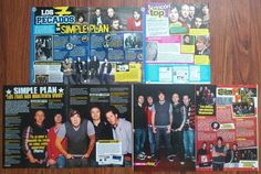 SIMPLE PLAN - Pierre Bouvier, Poster Articles Clippings | eBay