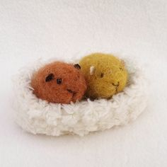 Twin piggies! ❤❤  https://www.etsy.com/listing/257031930/guinea-pig-needle-felted-pocket-pet