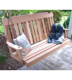 Shop a great selection of Creekvine Designs Cedar Classic Porch Swing. Find new offer and Similar products for Creekvine Designs Cedar Classic Porch Swing. Cedar Stain, Red Cedar Wood, Western Red Cedar, Wooden Pallets, Wooden Diy, Diy Wood, Patio Swing, Porch Swings, Garden Swings