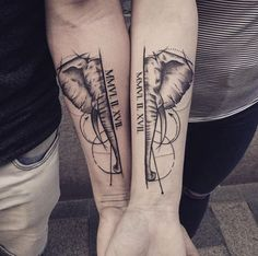 Artistic elephant tattoos via Luca Nyerges