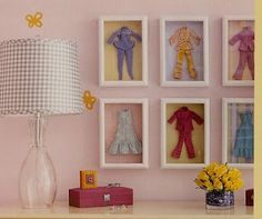 Turn your Vintage Doll and Barbie clothes into artwork with your daughter!