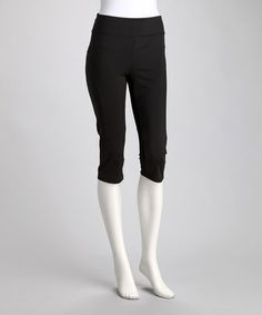 Loving this Black Toning Resistance Capri Pants on #zulily! #zulilyfinds