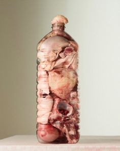 Per Johansen's Grotesque Photographs Of Meat Stuffed Into Bottles - Beautiful/Decay Artist & Design